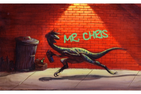 Chiodo Customized Graffiti Dino Print