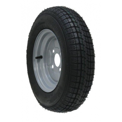 "10"" inch trailer wheel & tyre 145 10 6 ply 400kgs 76M 4 stud 100mm pcd"