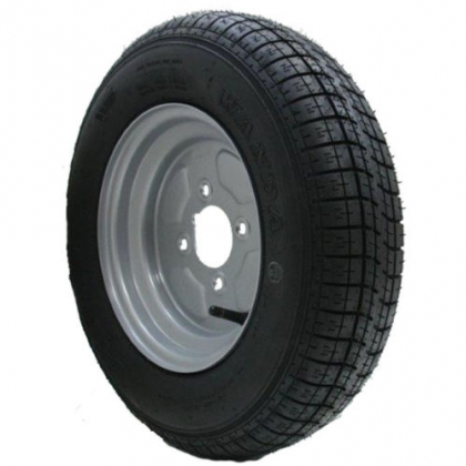 "145 10 trailer wheel & tyre  6 ply 400kgs 76M 4 stud 4"" pcd"