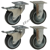 4 - 75mm Castors non marking grey rubb..
