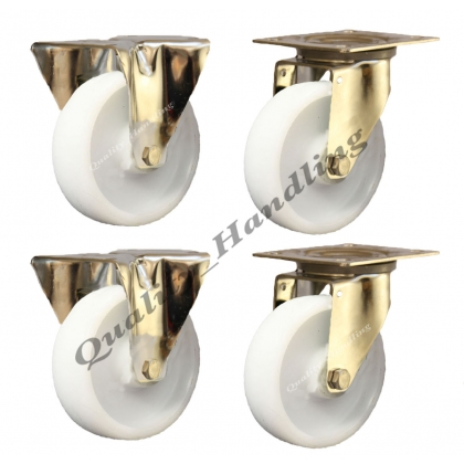 4 - 80mm stainless steel nylon fixed & swivel castors