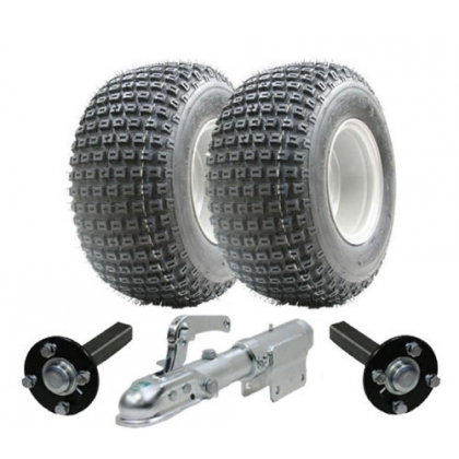 ATV trailer kit,Wanda wheels+hub & stub+swivel hitch,200kg