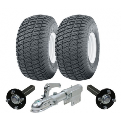 Heavy duty ATV trailer kit 900kg wheels hub & stub axles swivel hitch