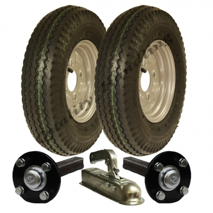 High speed trailer kit 4.80/4.00-8 wheels+hub&stub axle,hitch
