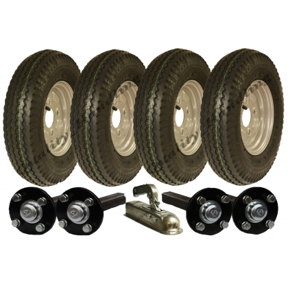 twin axle trailer kit 4.80/4.00-8,wheels hub&stub axle