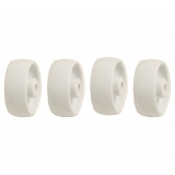 4 - 1.5 inch 40mm white nylon wheels