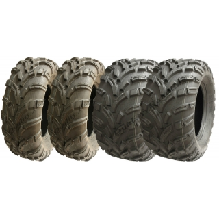 Set of 4 ATV tyres 25x10-12 & 25x11-12..