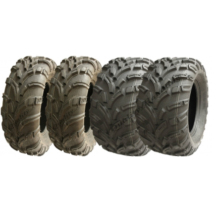 Set of 4 ATV tyres 25x10-12 & 25x11-12 6ply E-marked