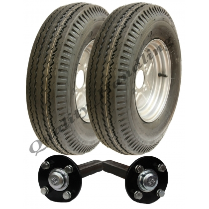 Trailer kit 5.00 - 10 road legal wheels + hub & stub axle