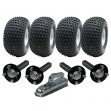twin axle ATV trailer kit -4 wheels+4 ..