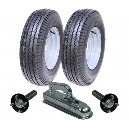 High speed trailer kit 5.00-10 road legal wheels+hub & stub,hitch