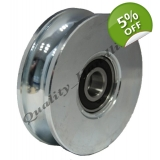 100mm pulley wheel Round groove Double..