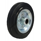 160mm solid rubber wheel steel centre ..