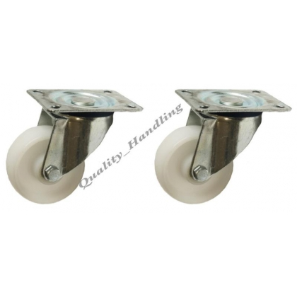 "2 -80mm 3"" inch nylon castors - heavy duty swivel 120kg each"