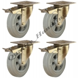 4 -200mm stainless steel rubber braked..