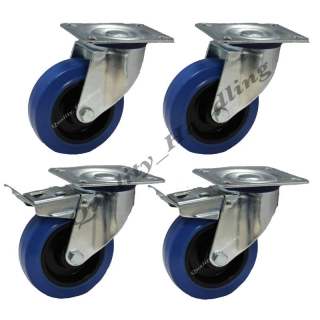 4-100mm Flight case castors
