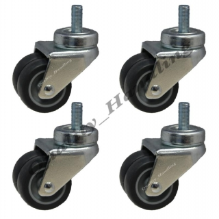 4 - 50mm twin wheel rubber bolt hole s..