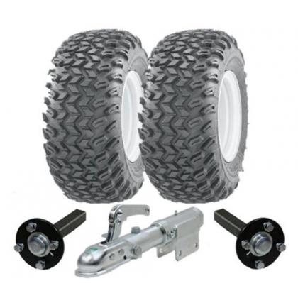 ATV trailer kit -wheels hub/stub swivel hitch heavy duty 900kg