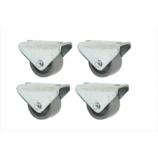 4 - 25mm Nylon fixed Castors - 4pcs - ..