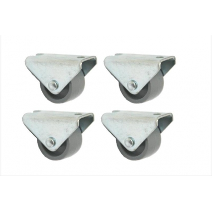 4 - 25mm Nylon fixed Castors - 4pcs - low-level caster - heavy duty