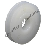 1 - Pulley wheel 50mm Round groove Nyl..