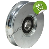 pulley wheel 160mm Round groove steel ..