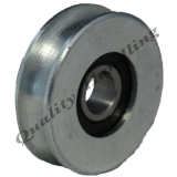 pulley wheel 40mm round groove steel w..