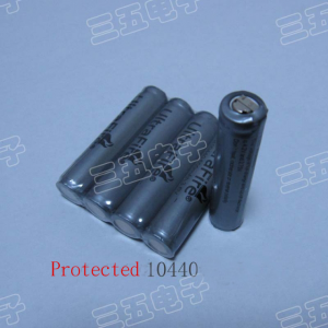 350 mAh 10440 Li-ion battery..