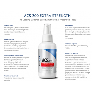 ACS 200 Silver Extra Strength 4oz  - Results RNA
