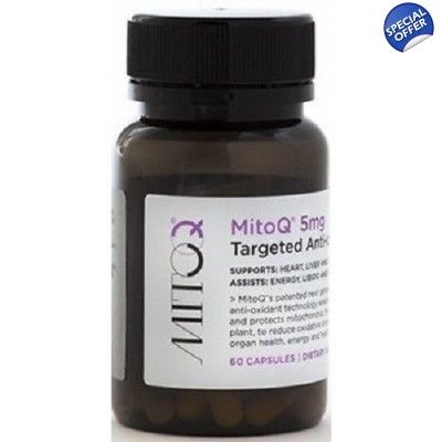 MitoQ 5mg 60 Capsules - Most Advanced COQ10 Available title=