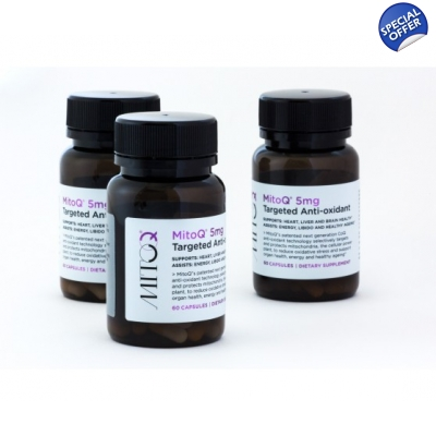 MitoQ 5mg 60 Capsules Tripple Pack - Compare to COQ10 Ubiquitol title=