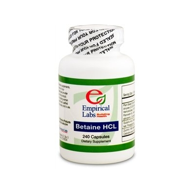 Emperical Labs Betaine HCL 240 Ct title=