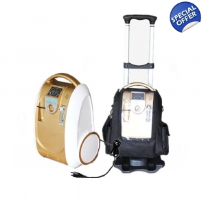 5 LPM Portable Oxygen Concentrator Oxygen Generator Battery Included