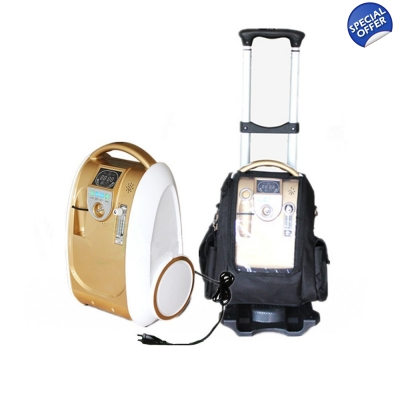 5 LPM Portable Oxygen Concentrator Oxygen Generator Battery Included title=
