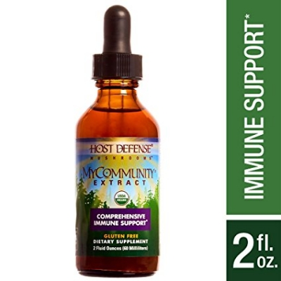 Host Defense MyCommunity Liquid Extract 17-Species Multi Mushroom title=