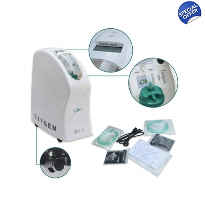 5 LPM  Oxygen Generator Bundle up to 96 Pct Purity title=