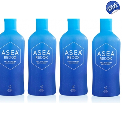 ASEA Water Dietary Supplement Bundle 4 32 oz Bottles title=