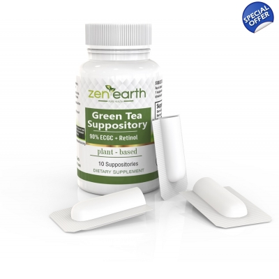 Green Tea Suppository with Retinol Acetate title=