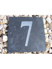 Slate Square Engraved House Number
