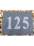 Slate Rectangle Engraved House Number