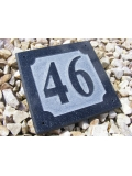 Granite Square Embossed House Number