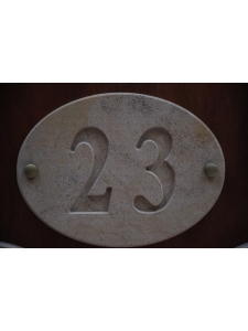 Sandstone Oval Engraved House Number