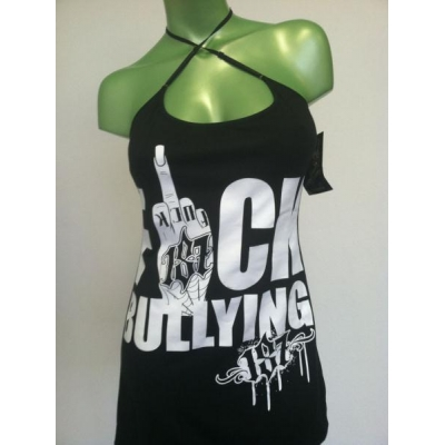 PLUS SIZE BULLYING BLK WOMENS CAMI-TANK