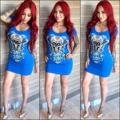 TATTED SOUL ROYAL BAMBOO DRESS