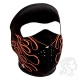 Neoprene Face Mask Orange Flames