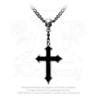 Skull with Cross Pendant Necklace