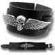 Skull & Wings On leather Bracelet