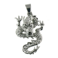 Stainless Steel Dragon Biker Pend..