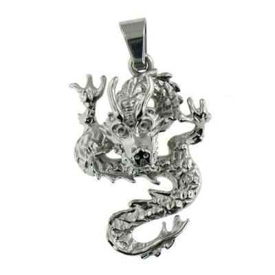 Stainless Steel Dragon Biker Pendant.