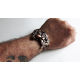 Biker Brown Leather Motorcycle Watch Bracelet